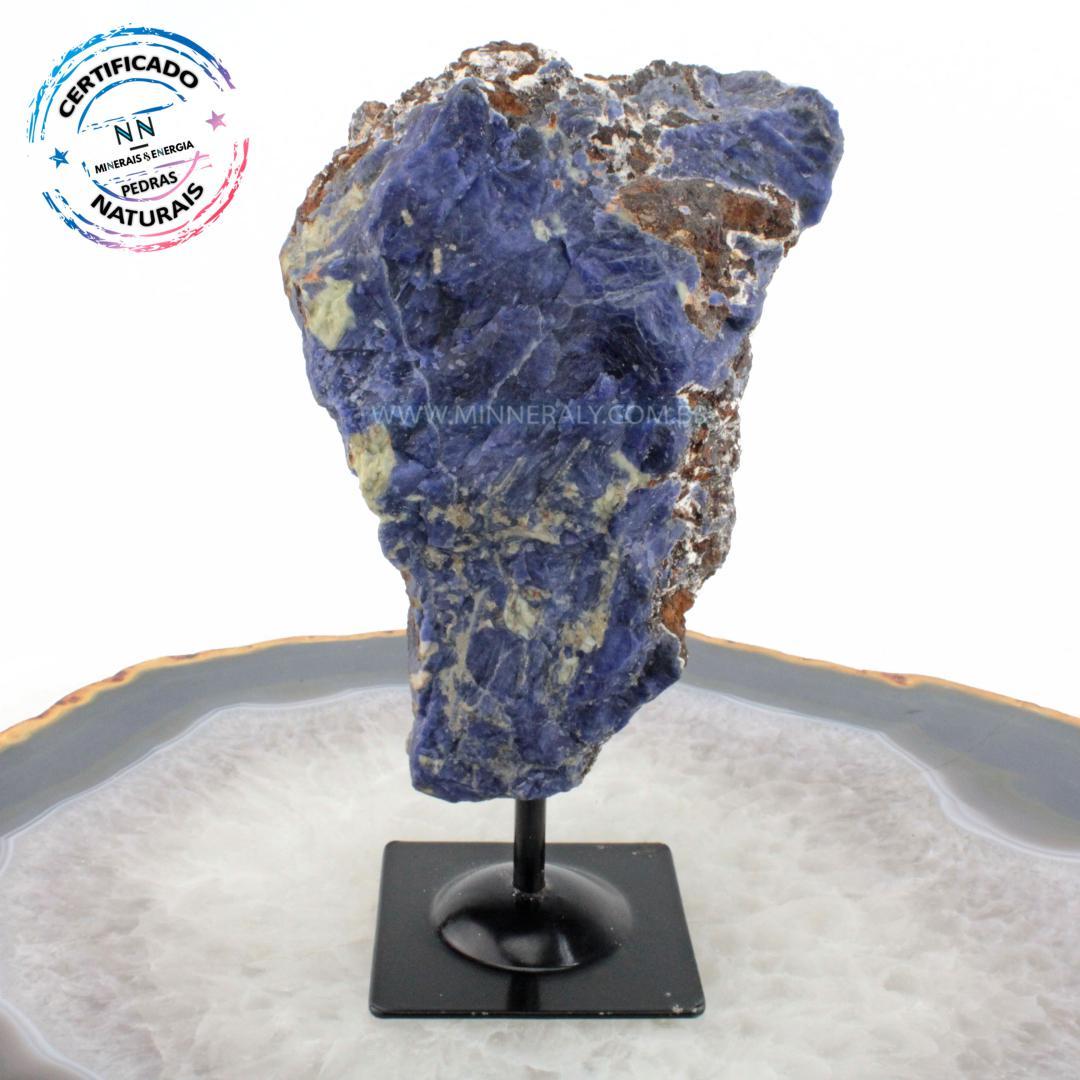 Sodalita IN Natura Metal.collection (1,488KG; ALT: 21,1CM; COMP: 7,6CM; LARG: 7,7CM)