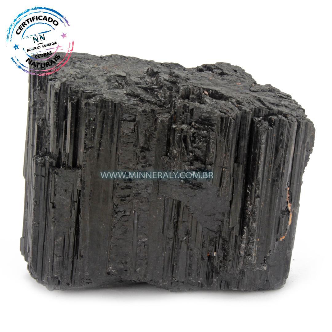 Turmalina Preta (Negra ou Schorlina) in Natura em Bruto (0,300kg; 4,6cm) #NN152