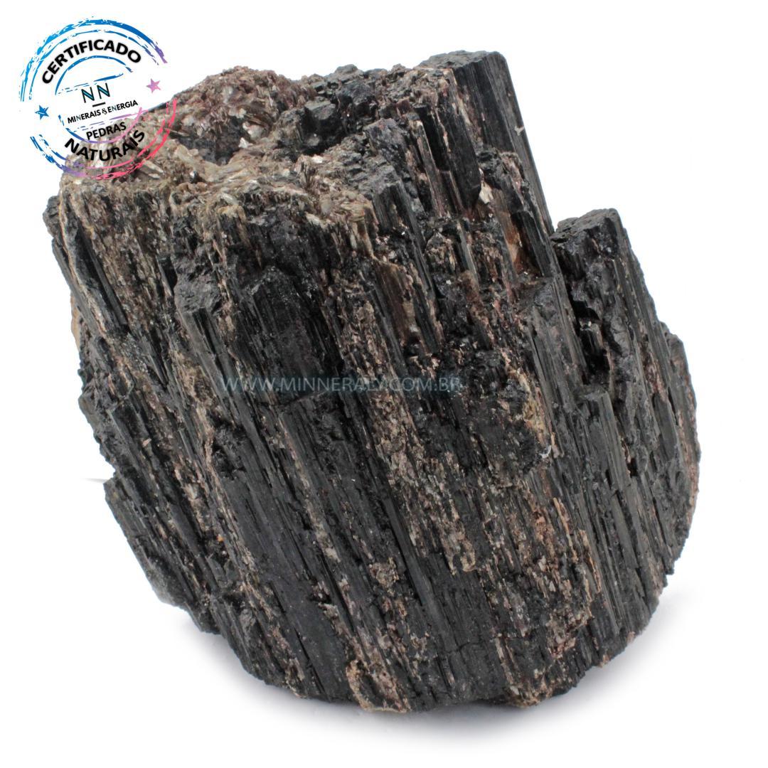 Turmalina Preta (negra ou Schorlina) com Feldspato IN Natura em Bruto (4,336KG; ALT: 16,4CM; COMP: 18,0CM; LARG: 12,2CM)