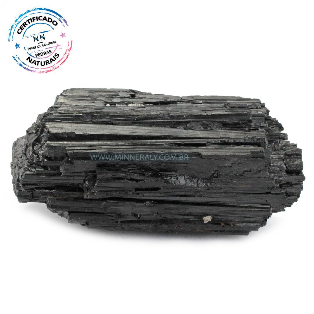 Turmalina Preta (negra ou Schorlina) IN Natura em Bruto (0,750KG; ALT: 5,3CM; COMP; 12,6CM; LARG: 5,8CM)