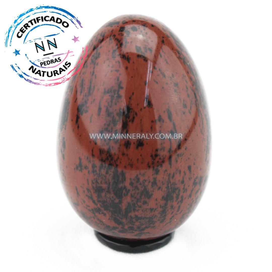 Yony Egg de Obsidiana Cor De Magno (Marrom ou Mahagony) in Natura
