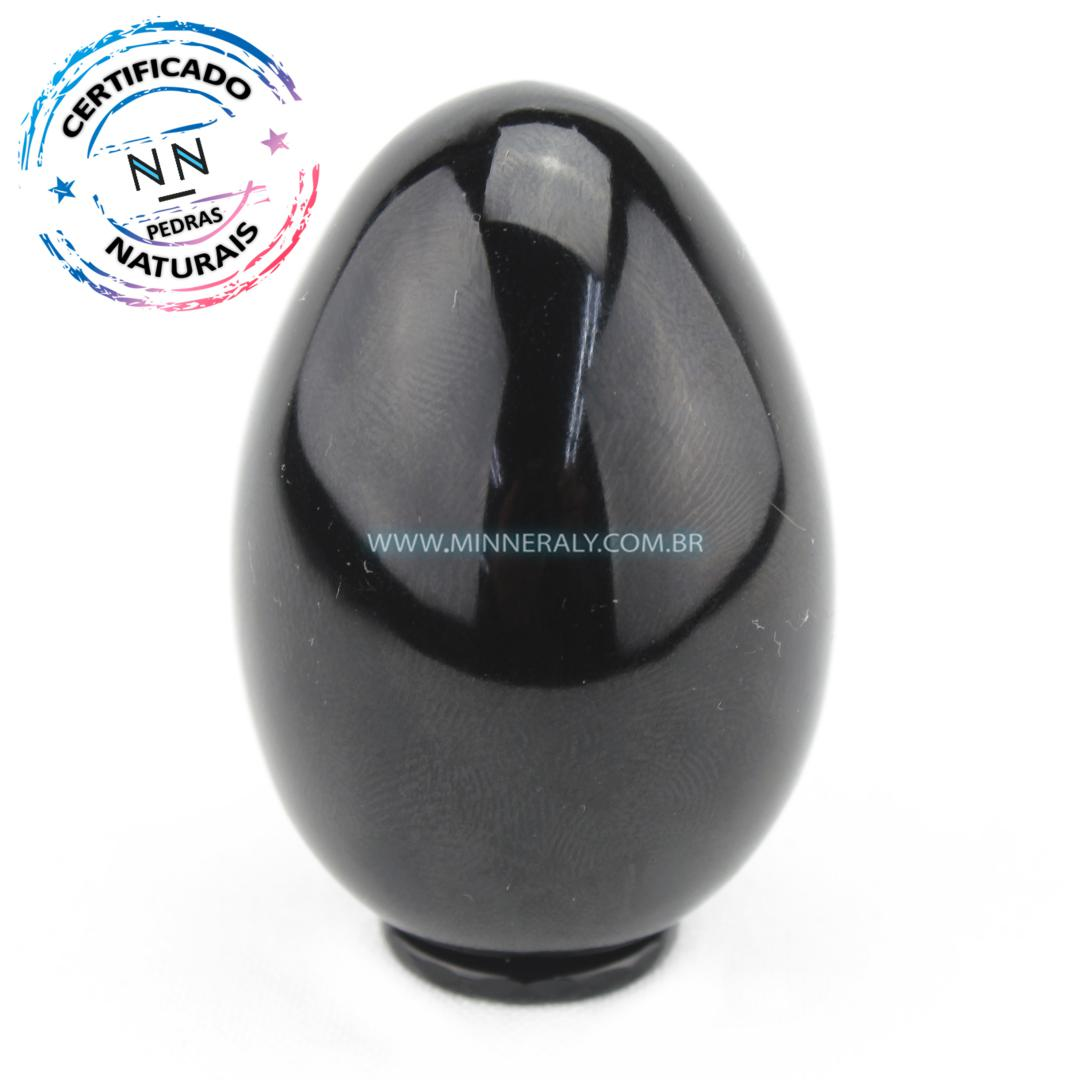 Yony EGG de Obsidiana Negra (preta) IN Natura