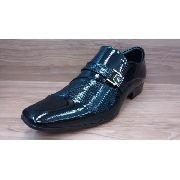 Sapato Jota Pe 22109 Preto Verniz Importado Italiano Social Sola de Borracha