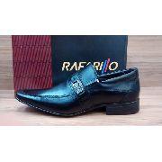 Sapato Rafarillo 6618 Preto Social Liso Enfeite Metal