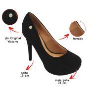 Sapato Feminino Scarpin Meia Pata Salto Alto Vizzano 1830401