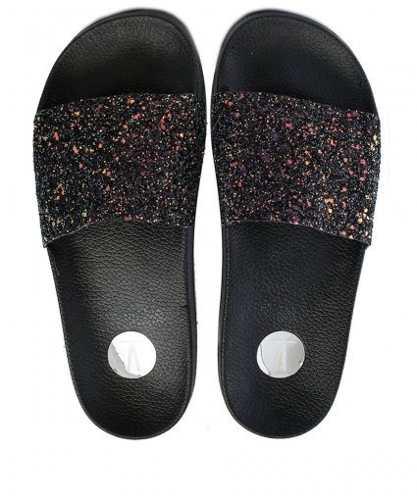Chinelo Vizzano 6329100 Feminino Slide Glitter Anatômico