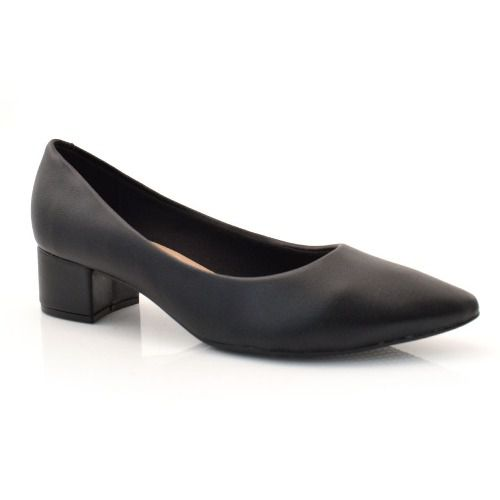 Sapato Scarpin Beira Rio 4182100 Salto Bloco Baixo Bico Fino