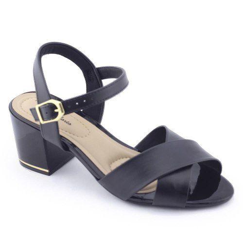 Sandália Modare 7109201 Mulher Moderna Salto Grosso Confort