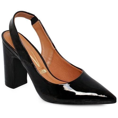 Sapato Vizzano 1285103 Scarpin Chanel Preto Verniz