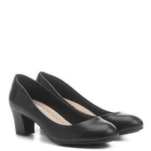 Sapato Facinelli 62401 Uniforme Conforto Salto Baixo