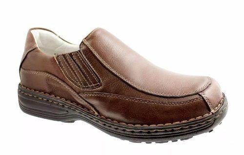 Sapato Alcalay 3502 Antistress Couro Legítimo