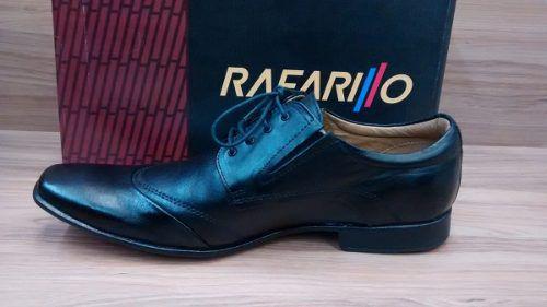 Sapato Rafarillo 34004 Social Couro Trabalhado Macio Preto