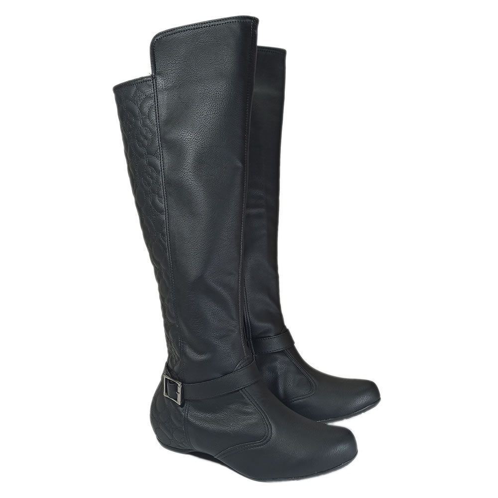 Bota Feminina Montaria Sneaker Cano Longo Tamanhos Especiais Ana Vitoria 364272
