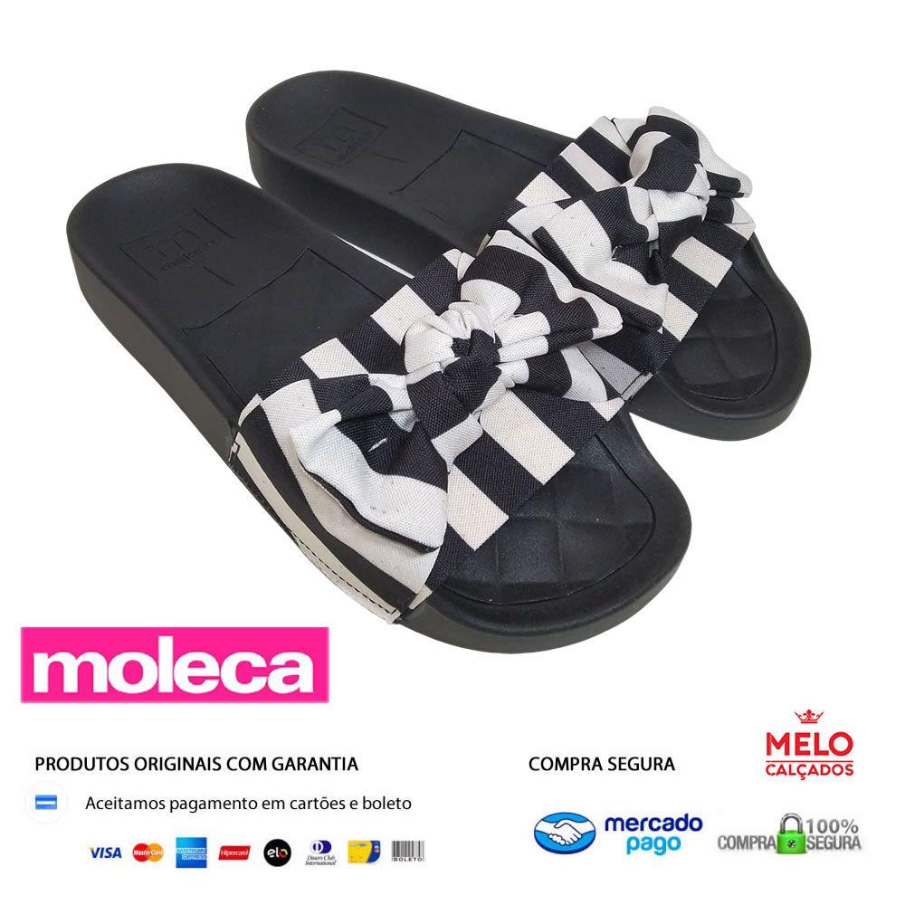 Chinelo Plataforma Feminino Slide com Laco Moleca 5414104