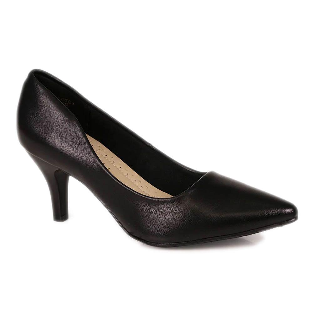 Sapato Feminino Scarpin Salto Medio Facinelli Bico Fino 62104