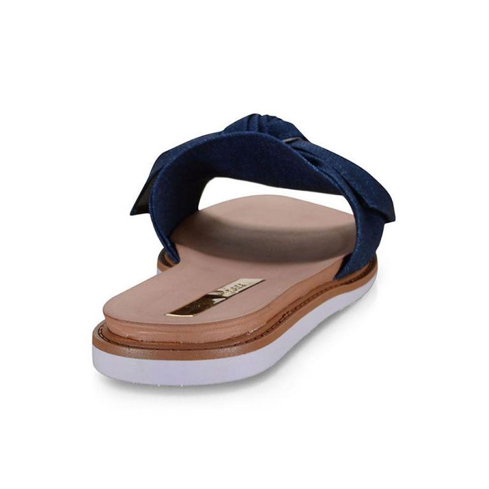 Tamanco Feminino Jeans com Laco 5443105 Moleca