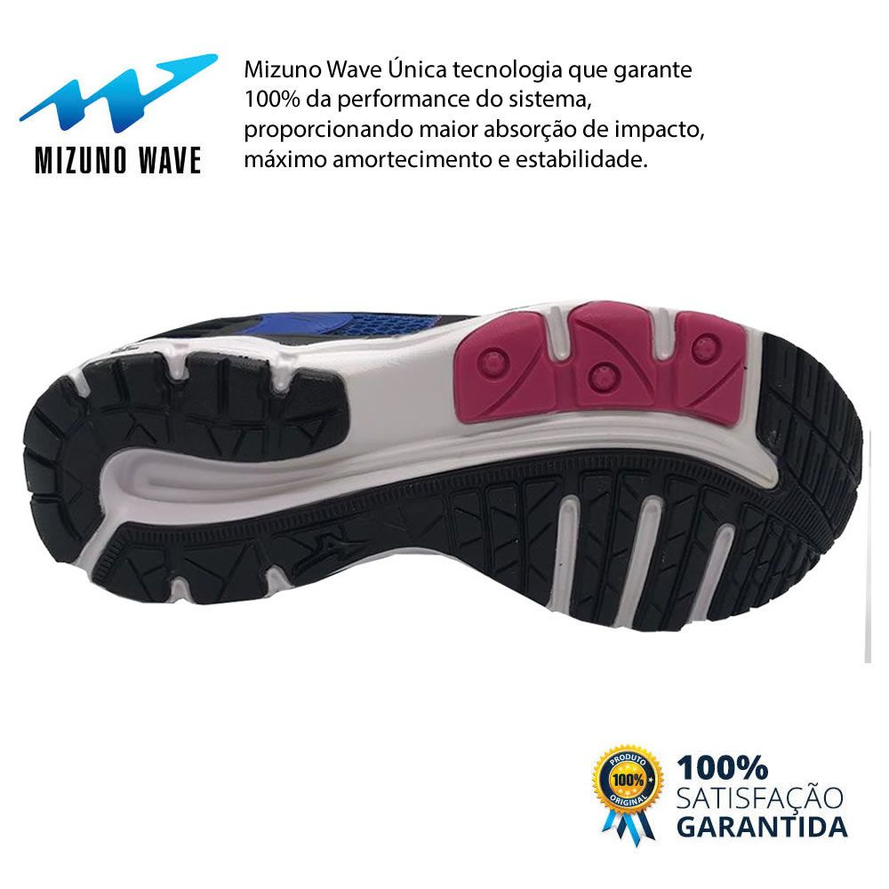 Tenis Feminino Mizuno Wave Hawk 2 4144302 Caminhada Academia