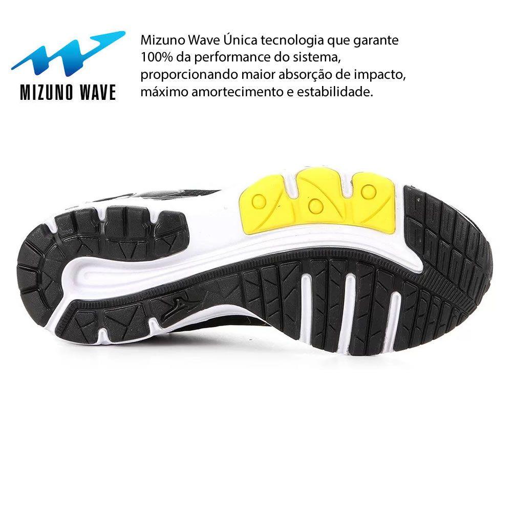 Tenis Masculino Mizuno Wave Hawk 2 4144302 Academia Amortecedor