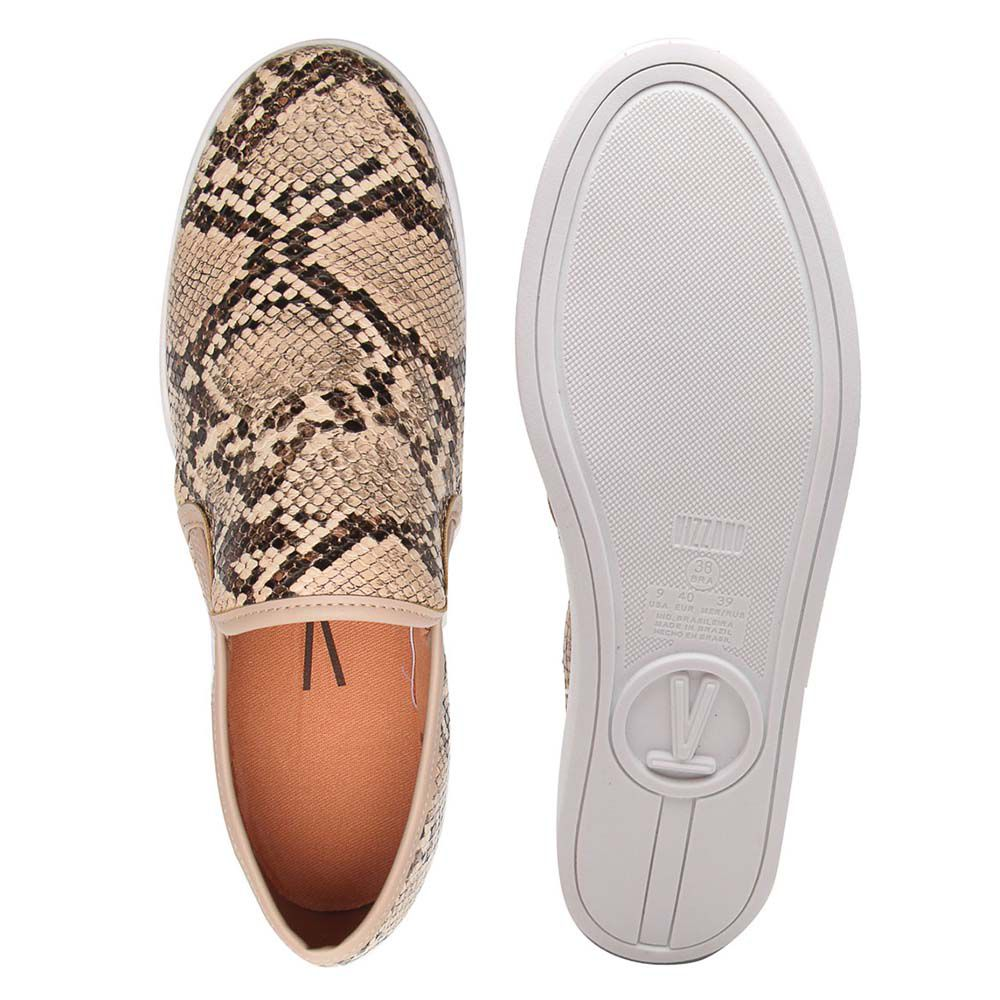 Tenis Vizzano slip on 1214200 Animal Print Cobra Snake Bege