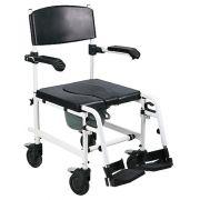 Cadeira sanitária com rodas e freios
