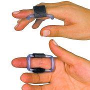 Órtese posicionadora de dedos com velcro para atender casos neurológicos ou ortopédicos