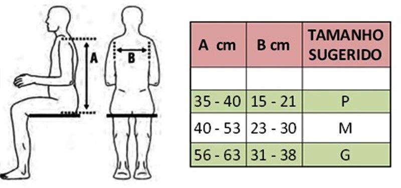 Colete de contenção torácica perineal