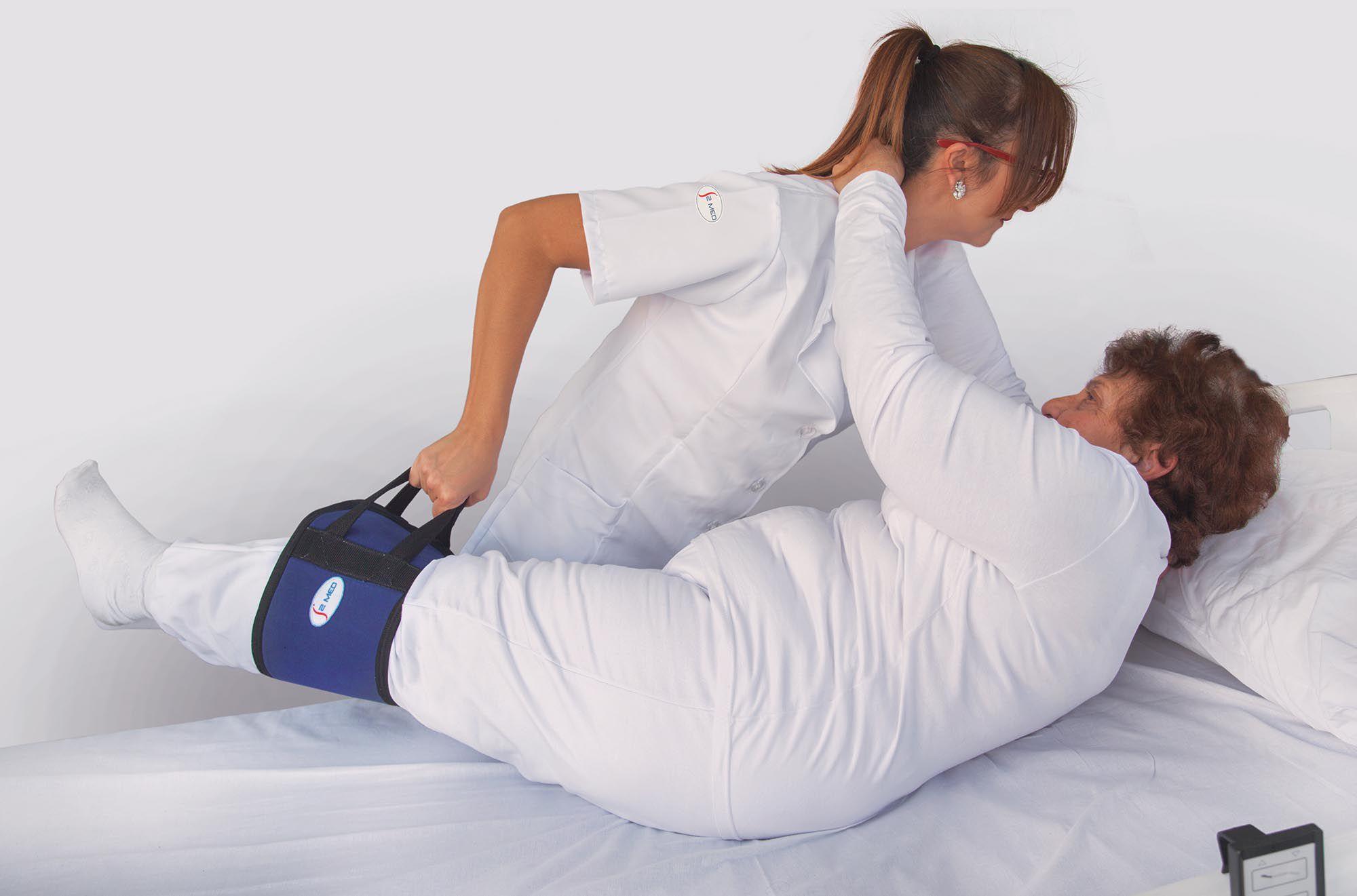Cinta para auxiliar manobras e posicionamento de pessoas com mobilidade reduzida