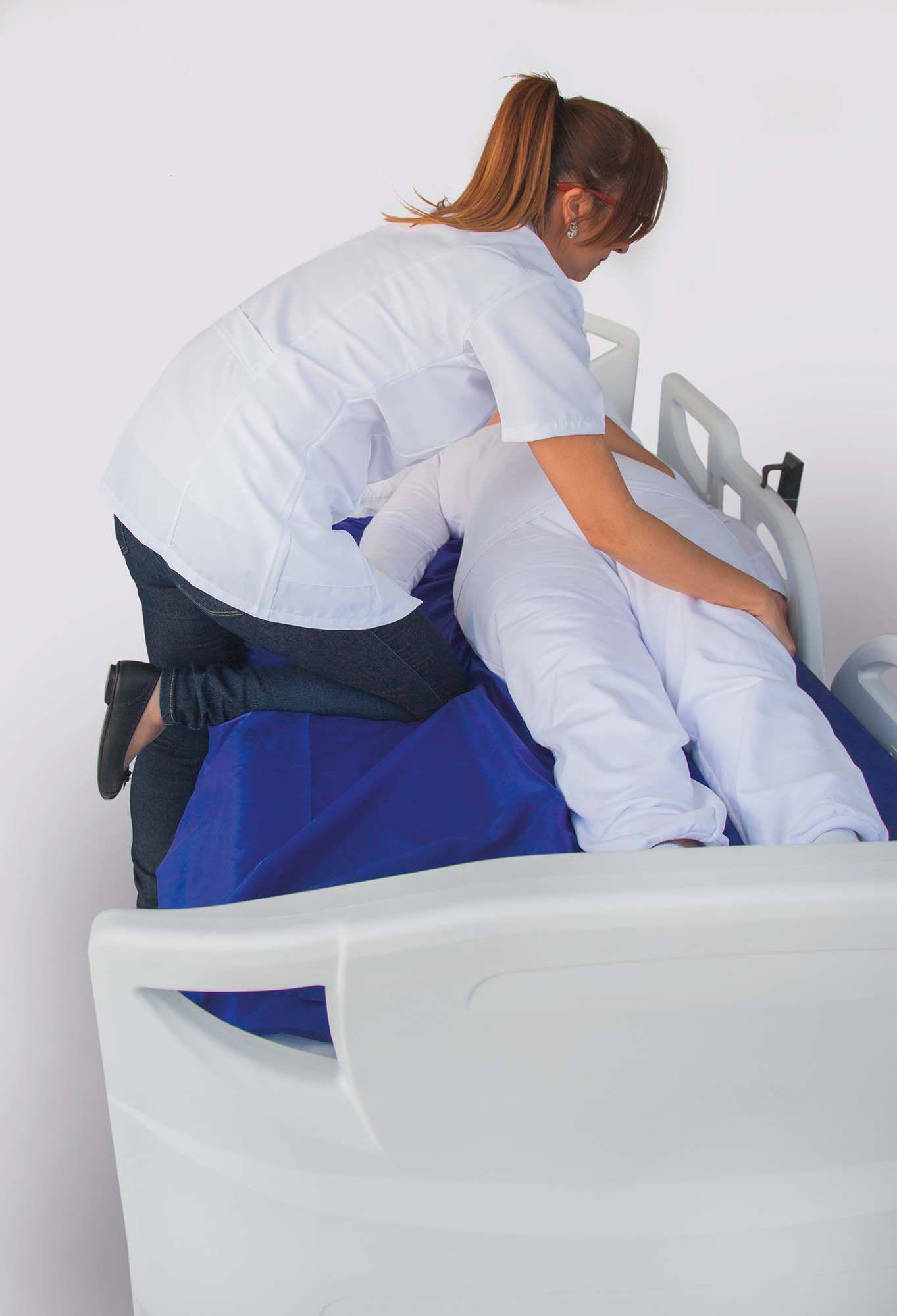 Lençol de manobra para auxiliar a transferência,manobra e reposicionamento de pessoas acamandas - tamanho grande