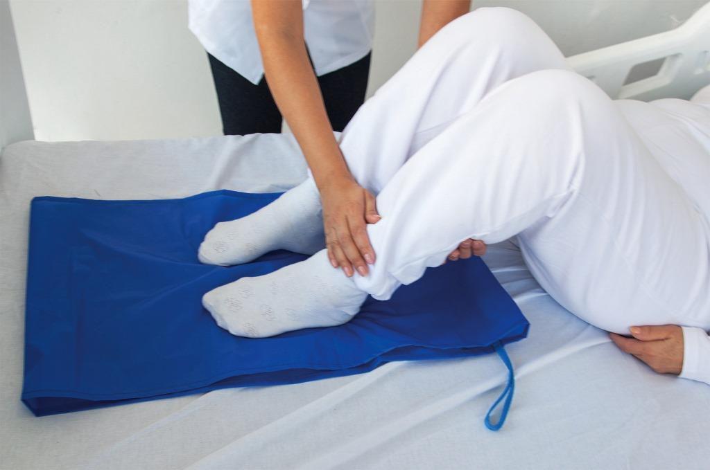 Lençol de manobra para auxiliar na fisioterapia, manobra e reposicionamento de pessoas acamadas - tamanho pequeno