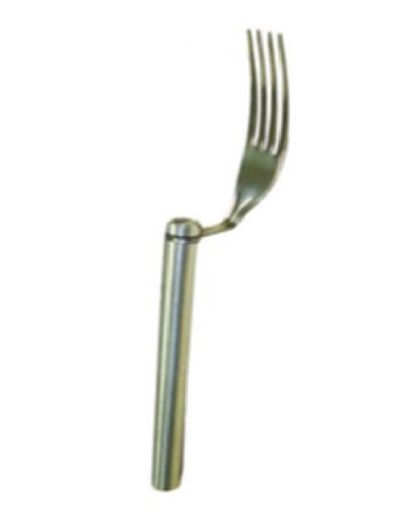 Garfo balancim de aço inoxidável para auxiliar pessoas com movimentação do punho e dedos limitada