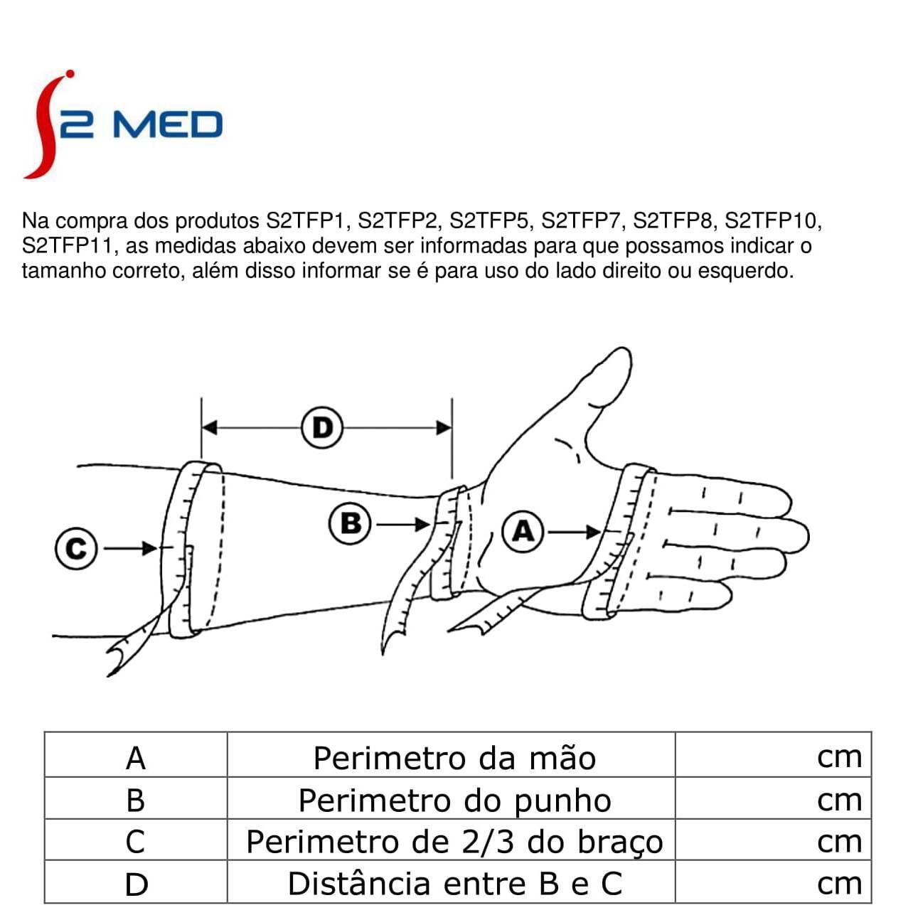Órtese tubular extensora de punho, dedos e polegar para atender casos neurológicos ou ortopédicos