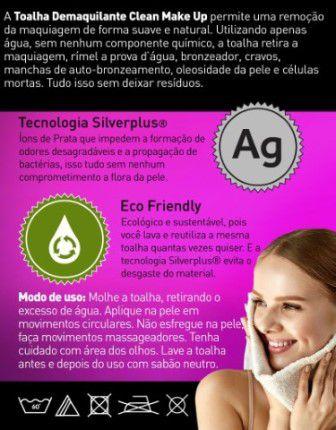 Toalha demaquilante Clean Make Up
