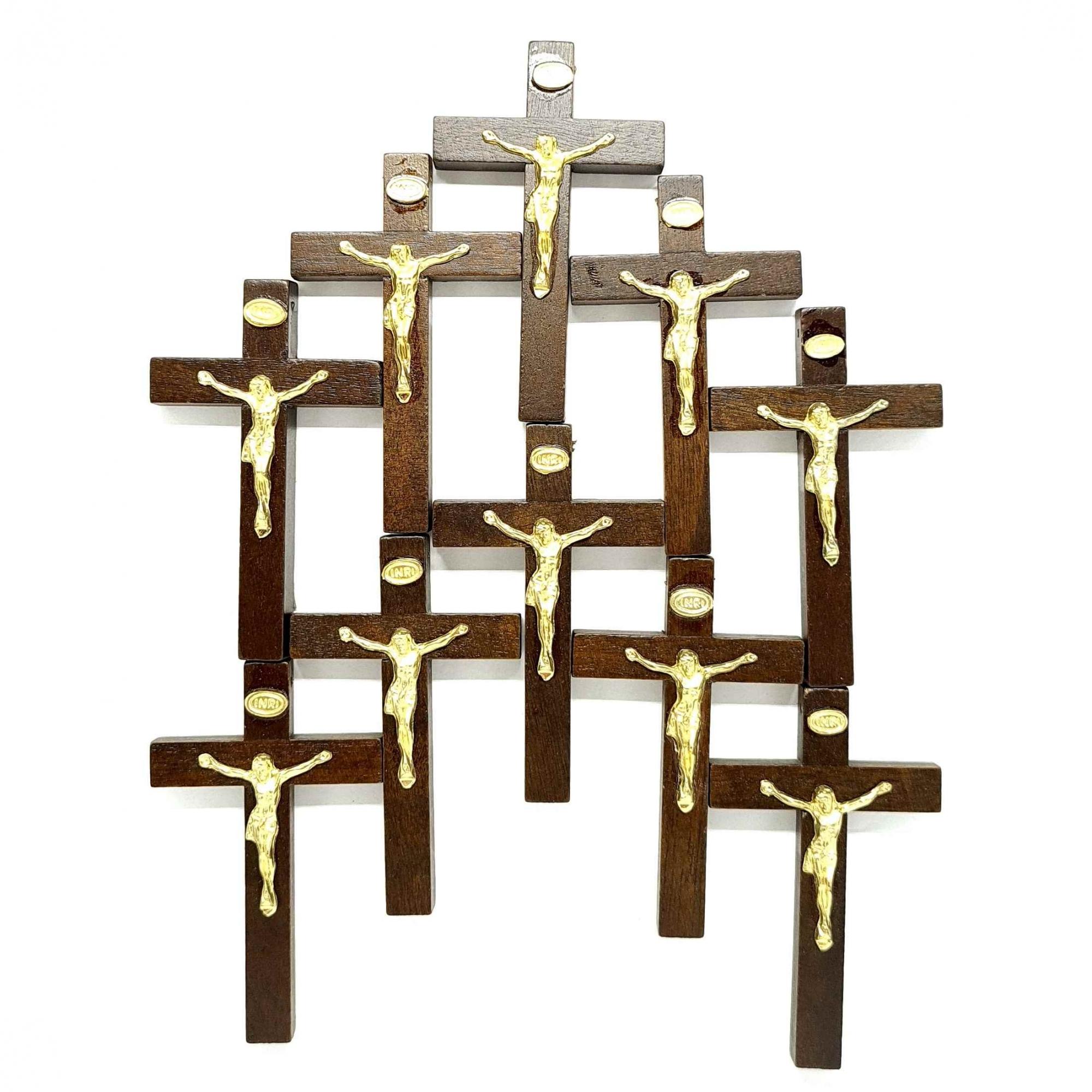 Combo Crucifixo de mão/porta 7,5 cm - 10 unidades