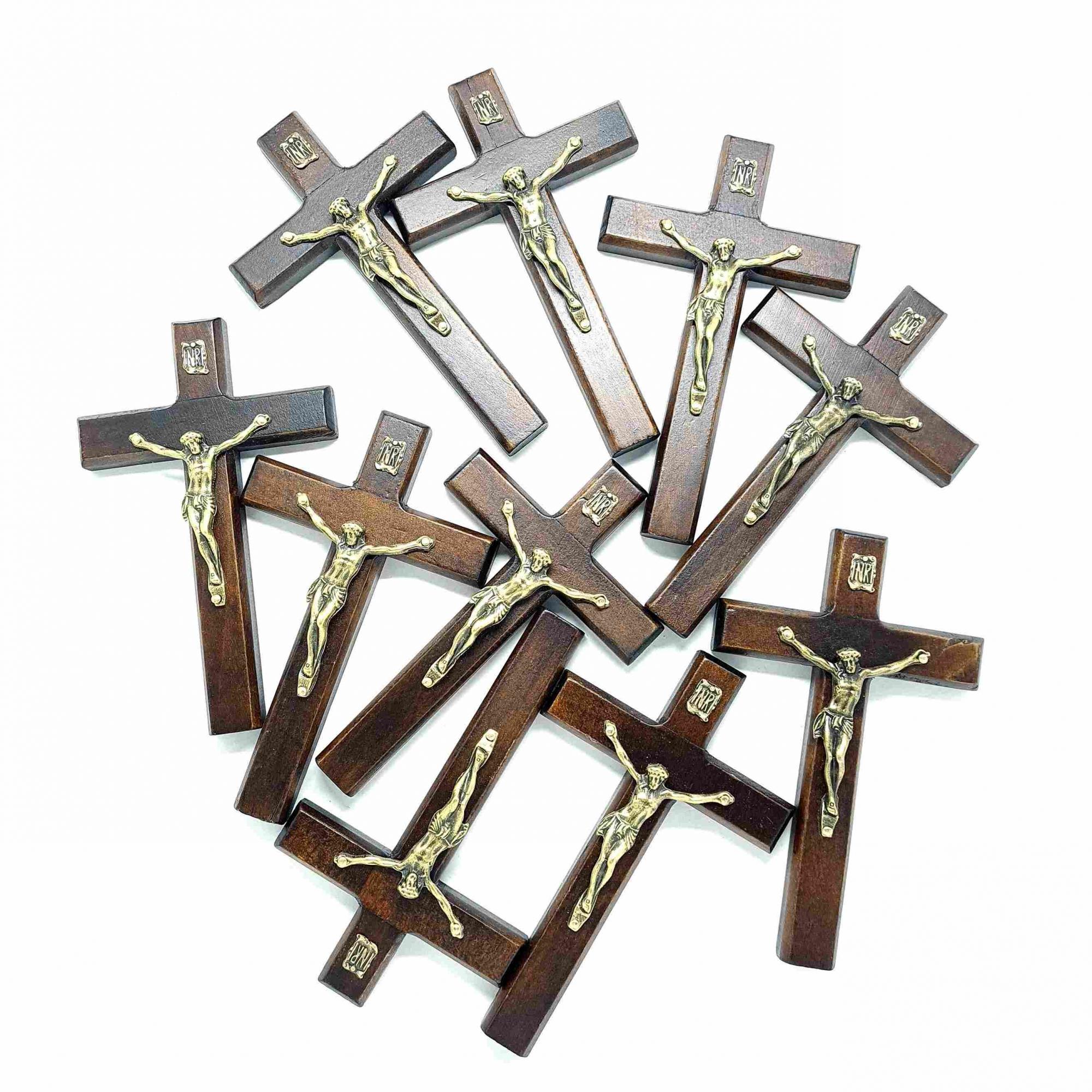 Combo Crucifixo de porta 12 cm - 10 unidades