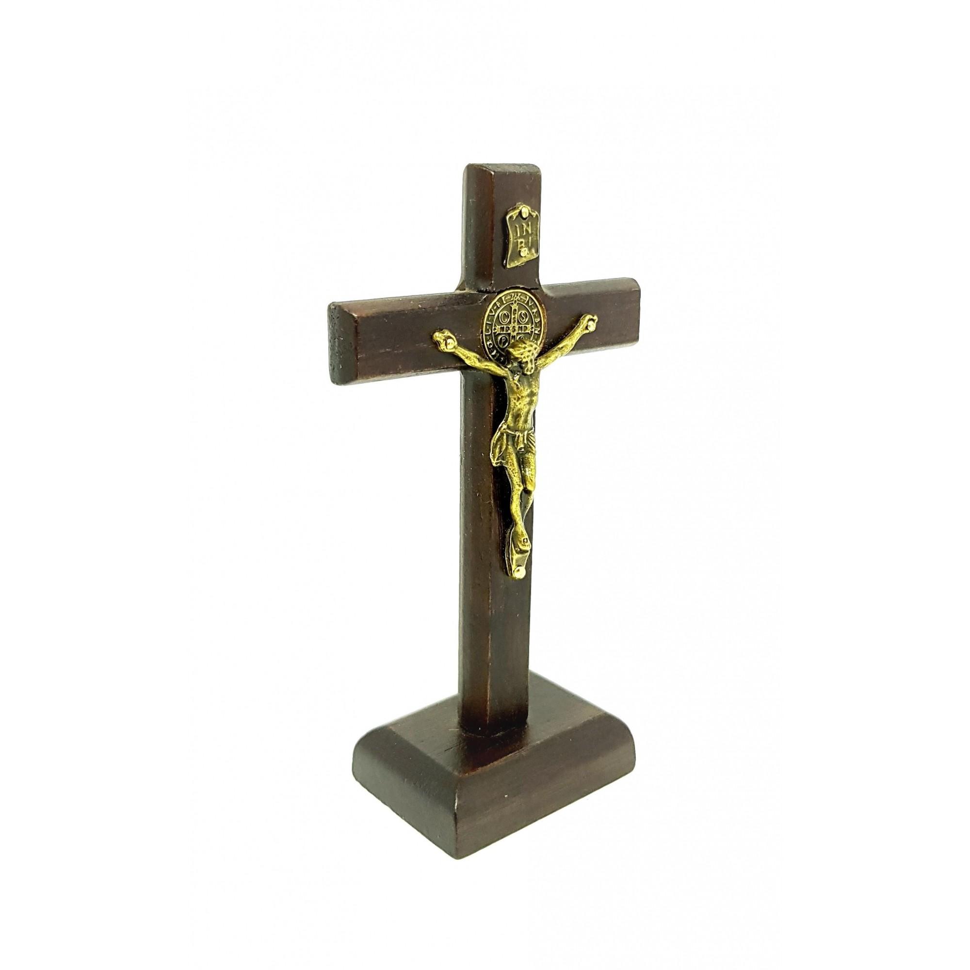Crucifixo de Libertação de mesa 12 cm