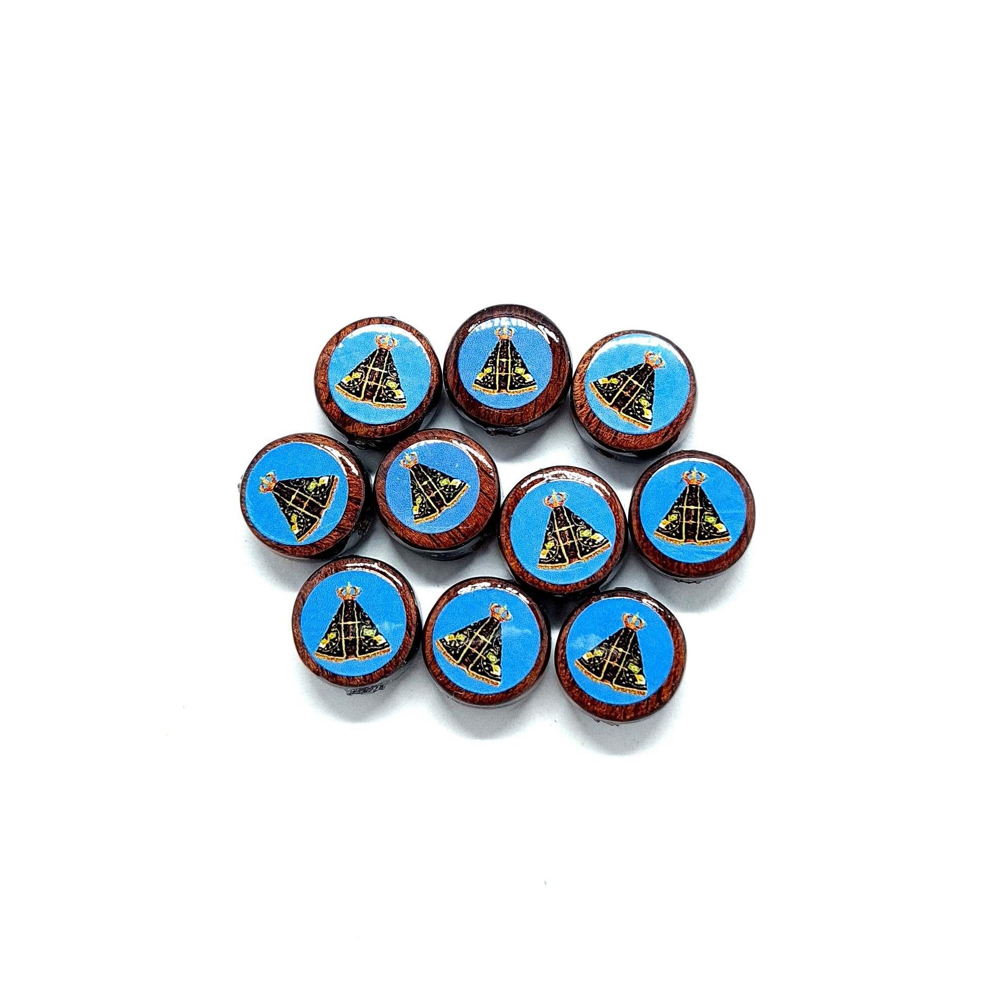 Medalha Pequena de Nossa Senhora Aparecida 2 furos - 10 unidades