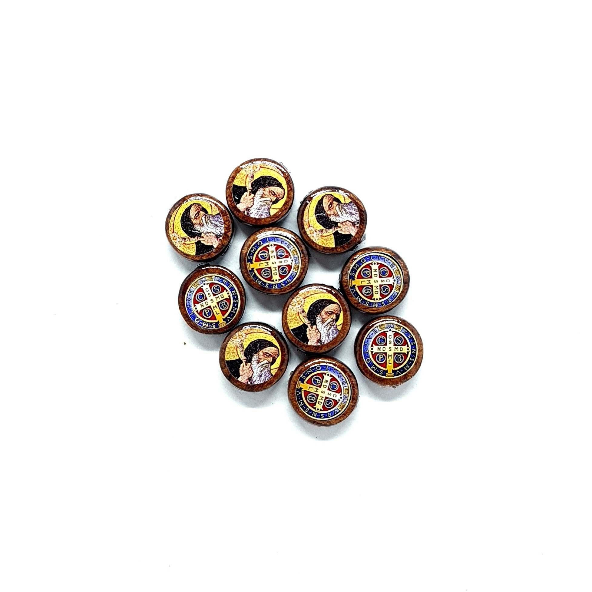 Medalha Pequena de São Bento 2 furos - 10 unidades