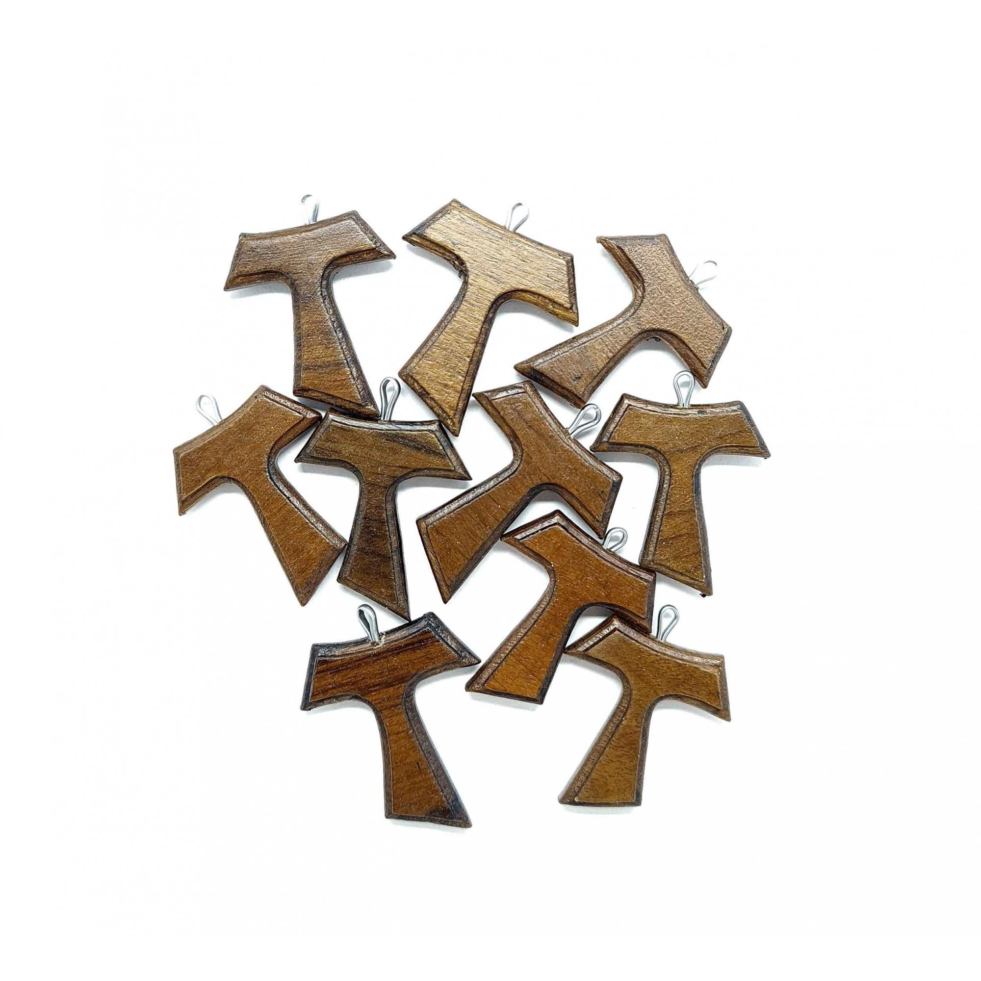 Tau em madeira com verniz fosco - 10 unidades