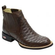 Bota Country Escamada Masculina Marrom - Café 965