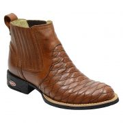 Bota Escamada Cano Curto Masculina Country Whisky 965