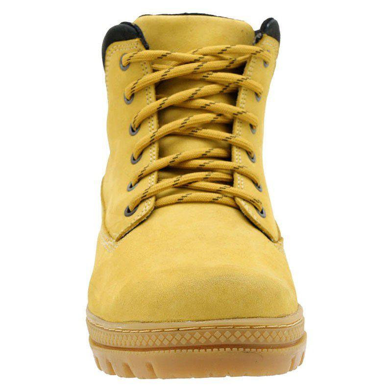 Bota Amarela Masculina Worker em Couro 256