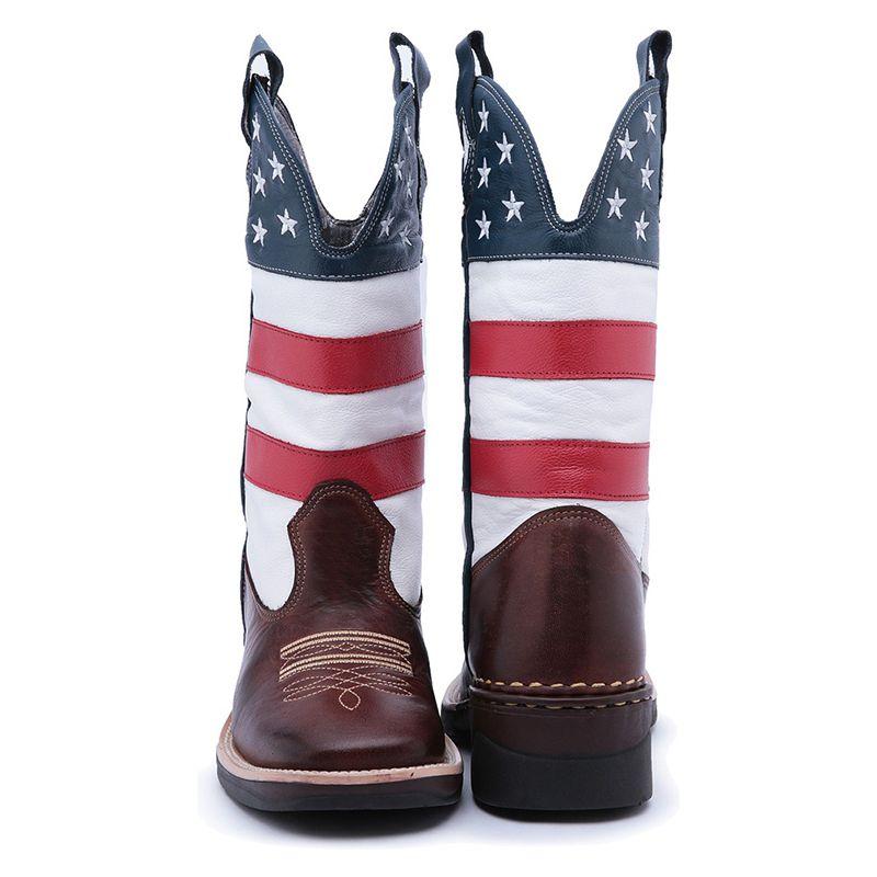Bota Texana Bandeira Estados Unidos EUA 971