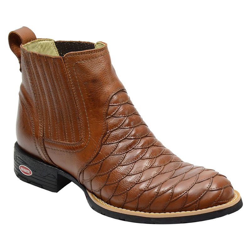 Botina Escamada Cano Curto Masculina Country Whisky 965