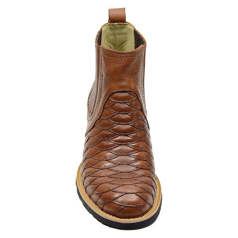Bota Escamada Cano Curto Masculina Country Whisky 965