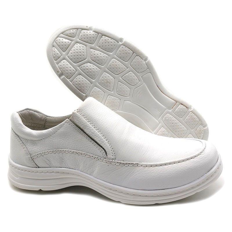 Sapato Conforto Branco Masculino 2711-05