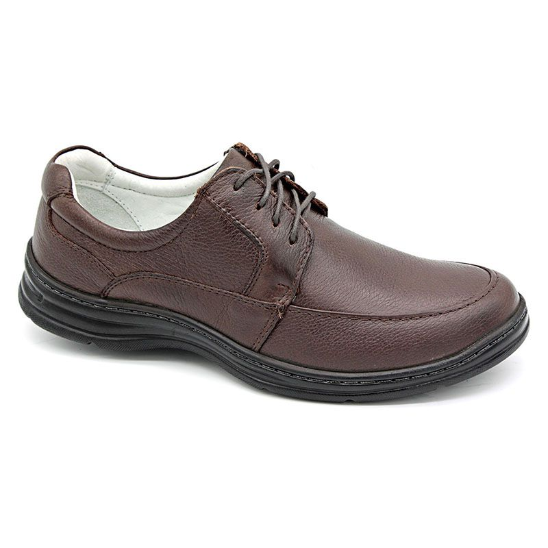 Sapato Conforto Marrom Masculino - Café 2712-02