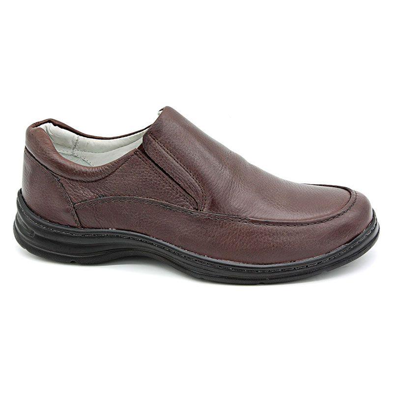 Sapato Conforto Masculino Marrom - Café 2711-02