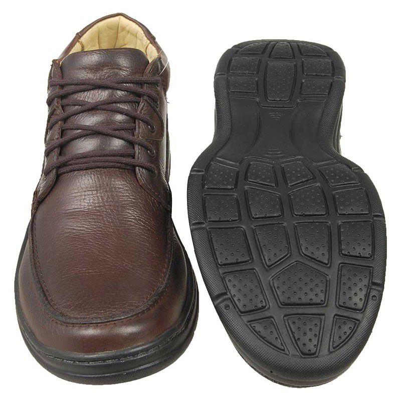 4bae1cda02 Sapato Linha Conforto Masculino Marrom - Café 2710-02 na J Calçados