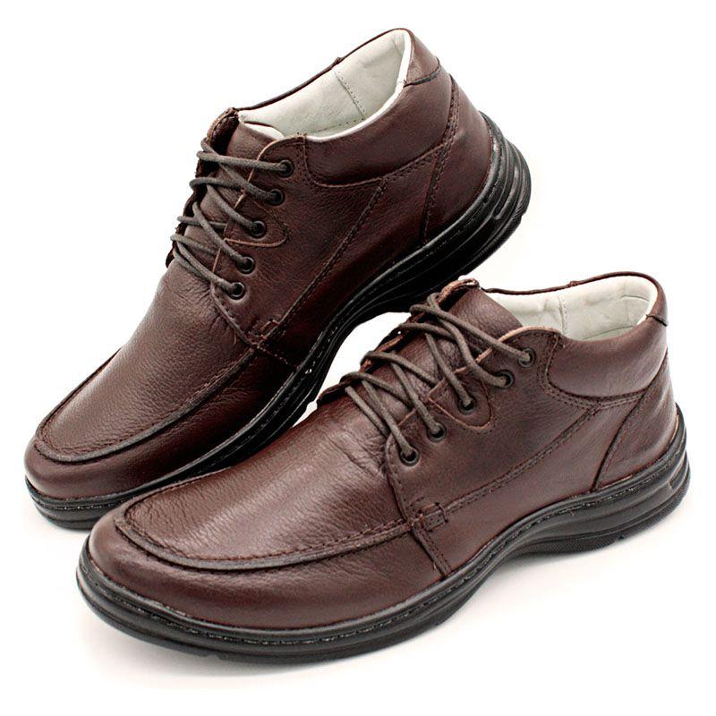 Sapato Linha Conforto Masculino Marrom - Café 2710-02