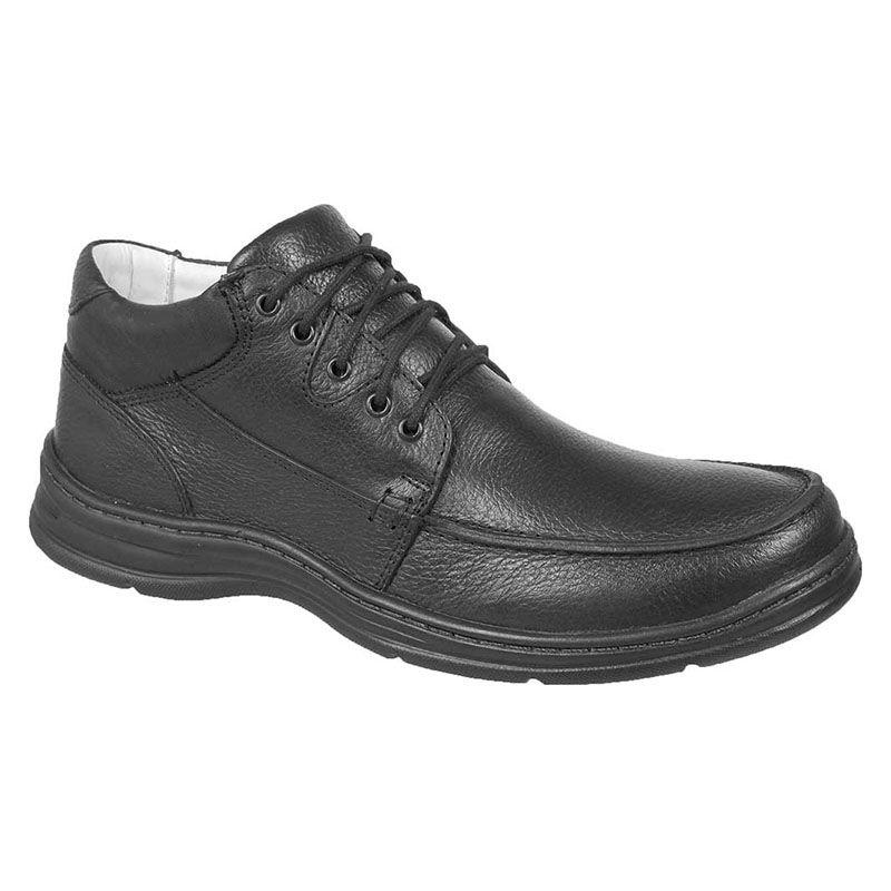 cb1e340a2 Sapato Linha Conforto Preto Masculino 2710-01 na J Calçados